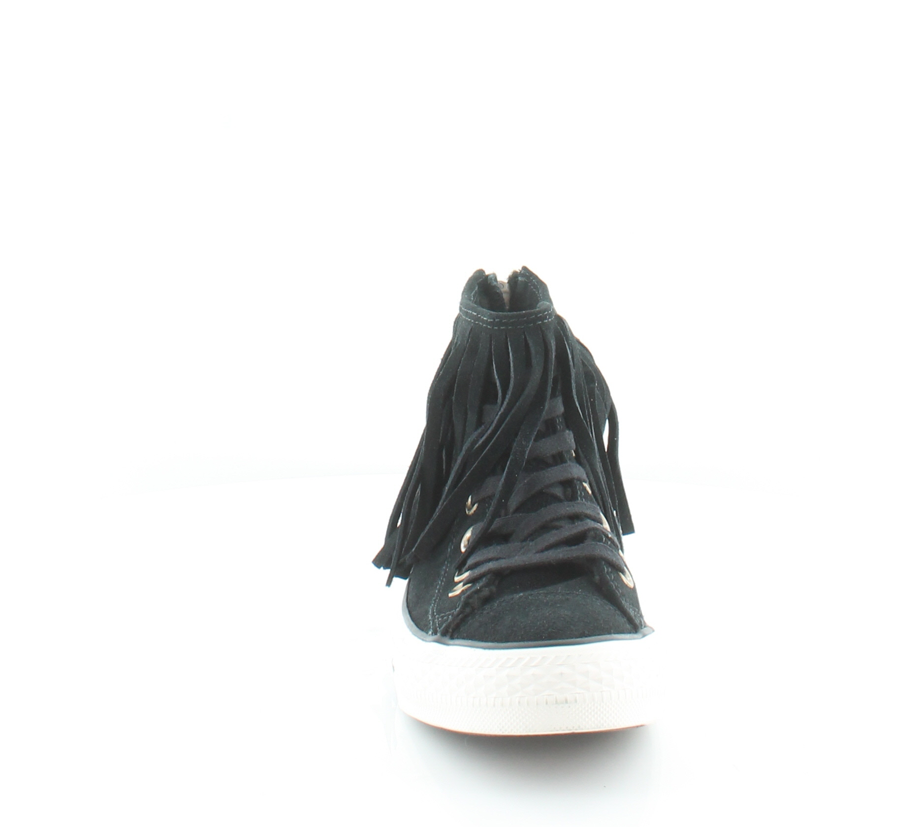 Converse Fringe Women's Fashion Sneakers Black Size 6 M