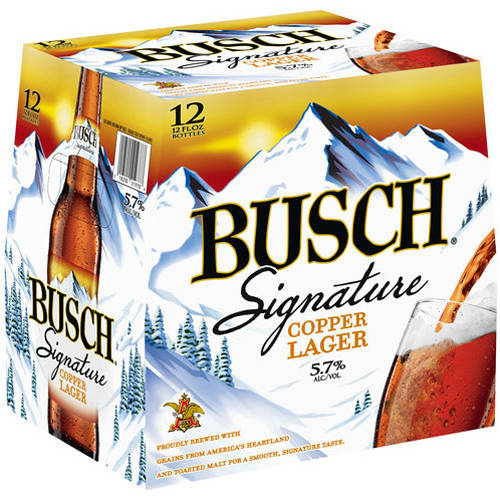 Busch Signature Copper Lager Beer, 12 pack, 12 fl oz
