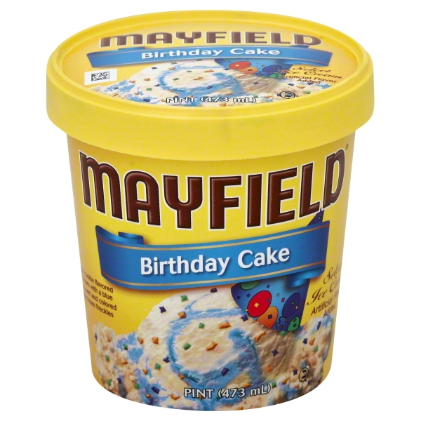 Mayfield Birthday Cake Ice Cream 16 oz Walmartcom
