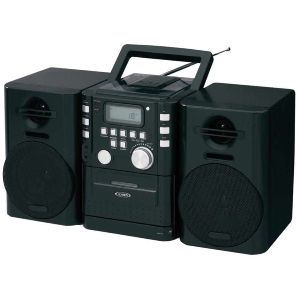 Jensen CD_725 Portable CD Player Boombox Cassette & FM St...