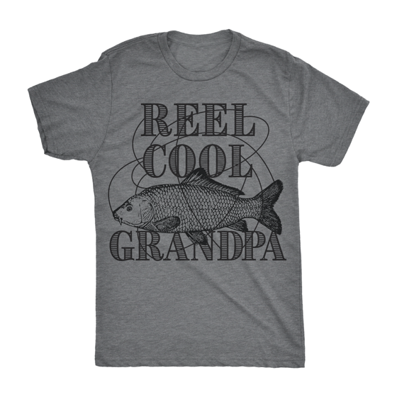 9688e140 Crazy Dog Funny T-Shirts - Mens Reel Cool Grandpa Tshirt Funyy Outdoor  Fishing Tee For Fathers Day - Walmart.com