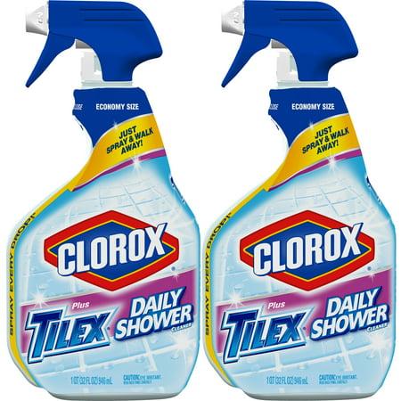 32 Oz Rtu Glass Cleaner - (2 pack) Clorox Plus Tilex Daily Shower Cleaner, Spray Bottle, 32 oz Bottles, 2 Pack