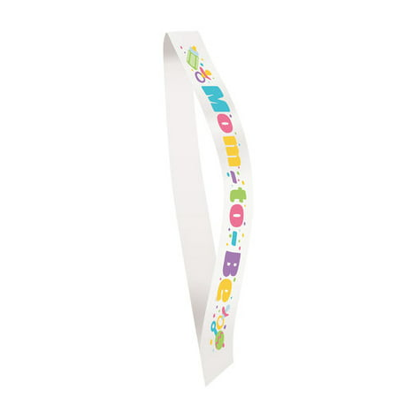 Baby Shower Satin Mom To Be Sash, 60.5 in, 1ct