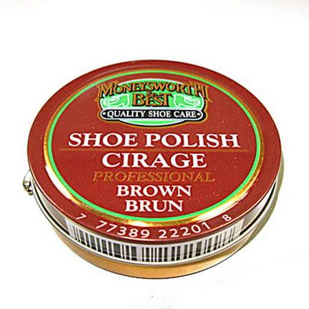Shoe Polish - 70g / 2.5oz - Brown (Best Jordan Shoe Cleaner)