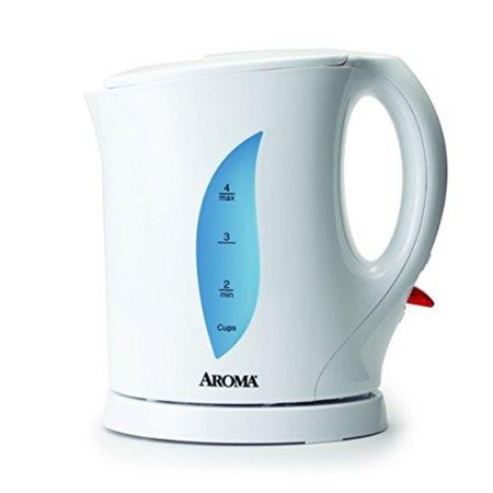 Aroma Housewares AWK-103 Electric Water Kettle, 1-Liter, White