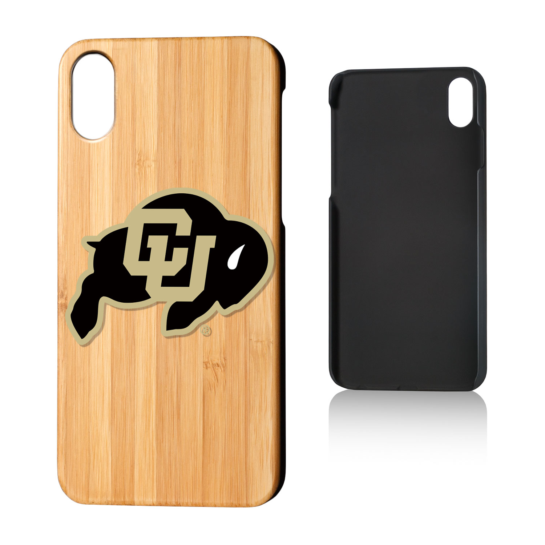 CU Colorado Buffaloes Insignia Bamboo Case for iPhone X
