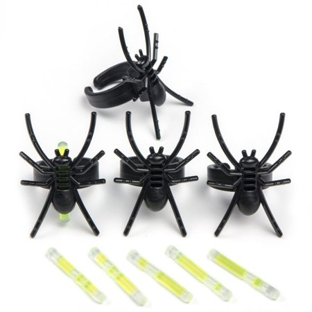 SPIDER GLOW RINGS 4CT](Spider Rings Bulk)