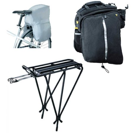 Topeak MTS TrunkBag DXP Bicycle Trunk Bag with Explorer Rack and Rain Cover ()