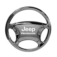 Jeep Renegade Black Chrome Steering Wheel Keychain