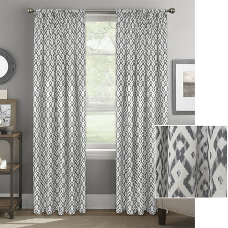 better home and gardens ikat lattice window curtain panel walmart com
