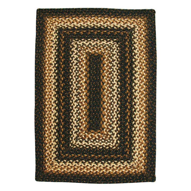 Homespice Decor Kilimanjaro Jute Braided Area Rug Brown