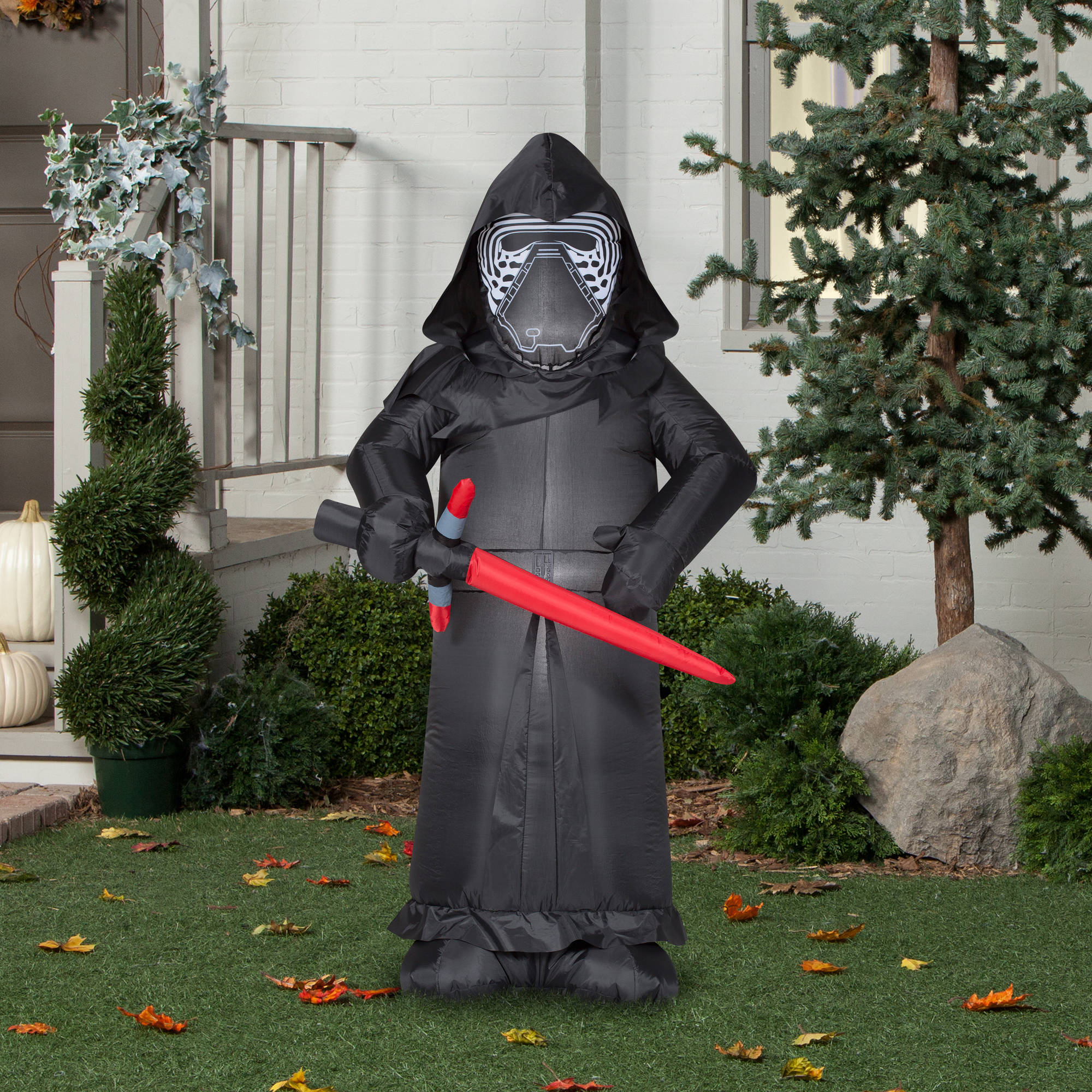 Gemmy Airblown Inflatable 5 X 3 Star Wars Kylo Ren Halloween Decoration