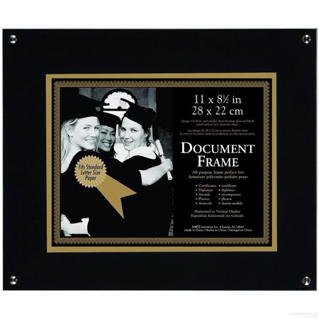 Onyx Float Document Frame For 11x8one Half Inch Prints By Mcs