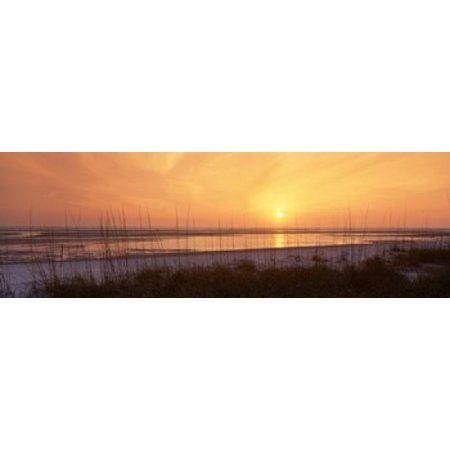 Sea At Dusk Gulf Of Mexico Tigertail Beach Marco Island Florida Usa Poster Print