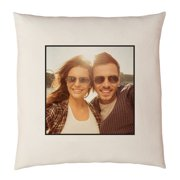 """Personalized Photo Accent Pillow 15"""" x 15"""" - Available in Antique Border or Plain Border"""