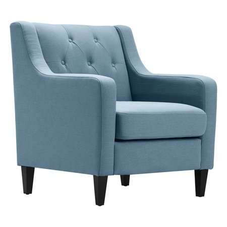 Astonishing Serta Nina Tufted Accent Chair Denim Blue Andrewgaddart Wooden Chair Designs For Living Room Andrewgaddartcom
