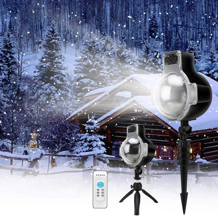 VicTsing Snowfall LED Lights Rotating Waterproof Snowflake Outdoor Projector Lights with Wireless Remote for Garden Halloween Christmas Wedding - Halloween Projects With Paper
