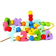 JuLam Numbers Beads Enlightenment Early Learning Baby Toys Threading Building Blocks Beads