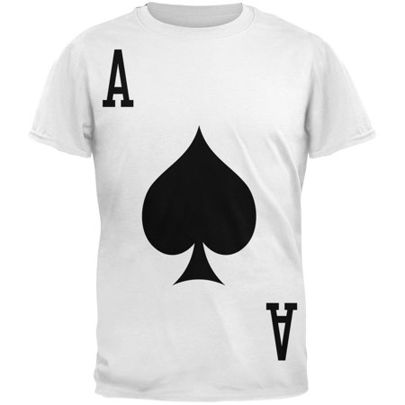 Halloween Ace of Spades Card Soldier Costume All Over Adult T-Shirt
