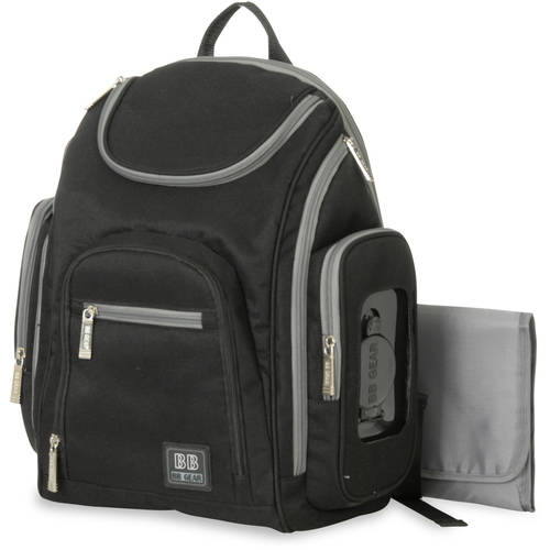 Baby Boom Spaces and Places Backpack Diaper Bag - Black/Grey
