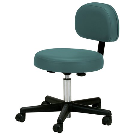 Earthlite Pneumatic Massage Rolling Stool With Backrest