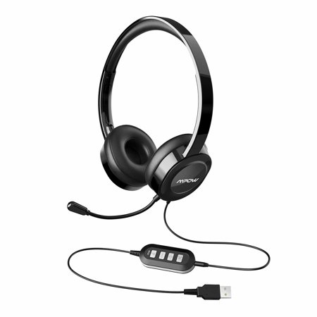 Mpow 158 Usb Headset 3 5mm Computer Headset Soft Memory Protein Earmuffs Noise Cancelling Headset With Microphone Lightweight On Ear Headphones Wide Compatibility For Pc Cell Phone Tablet Walmart Canada