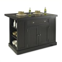 Bowery Hill Kitchen Island in Distressed Black