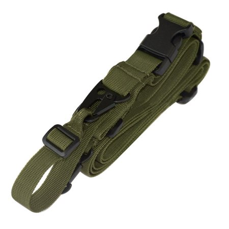 Tactical 3 Point Task Rope Adjustable Bungee Rifle Gun Sling System