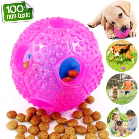 Interactive Dog Toys, Dog Chew Toys Ball for Small Medium Dogs, IQ Treat Boredom Food Dispensing, Puzzle Puppy Pals Tough Durable Rubber Pet Ball, Best Cleans Teeth Dog (Best Toys For Rottweiler Puppies)