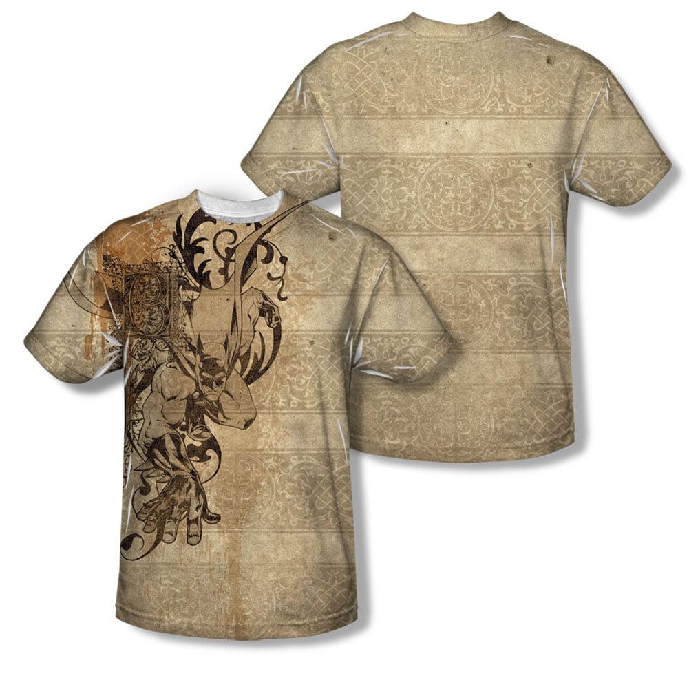 Batman Men's B Is For Batman Sublimation T-shirt White by Trevco