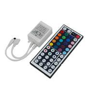 Unique Bargains Auto Car RGB LED Light Strip Control Box 24 Keys IR Remote Controller DC 12V