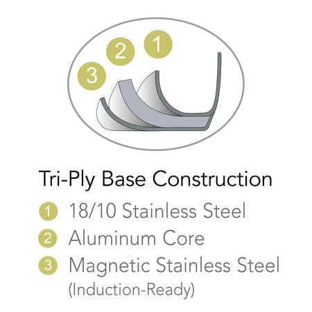 Tramontina Gourmet Stainless Steel 8 Quart Lock and Drain Stock Pot