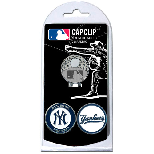 Team Golf MLB New York Yankees Cap Clip With 2 Golf Ball Markers