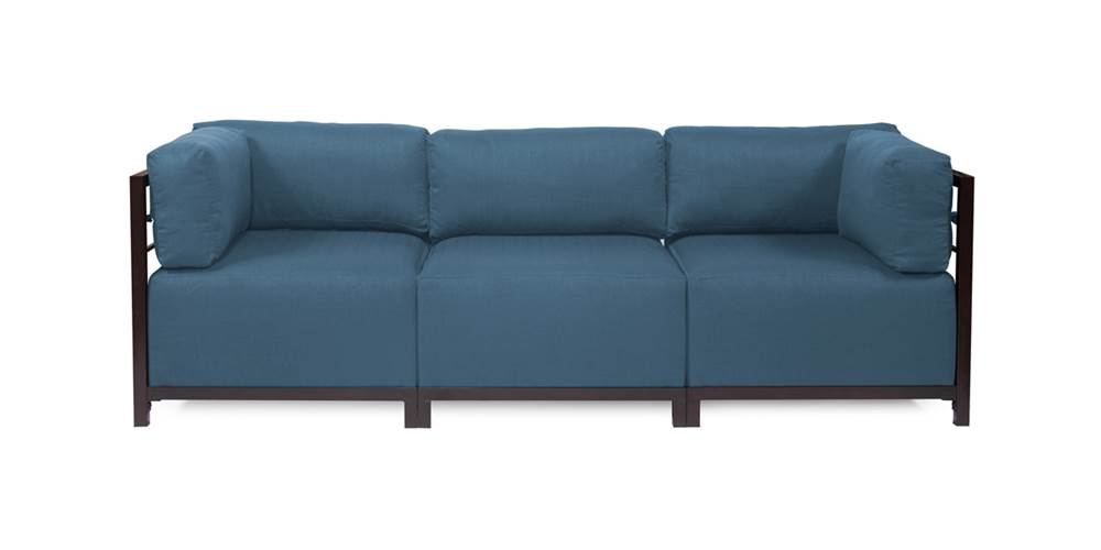 3-Pc Sectional in Turquoise by Howard Elliott Collection
