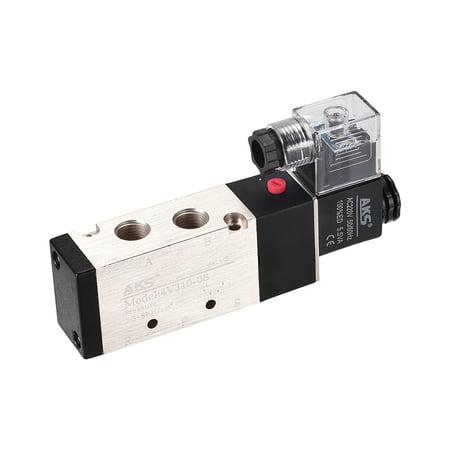 4V310-08 Air Single Electrical Solenoid Valve DC 220V 5 Way 2 Position 1/4