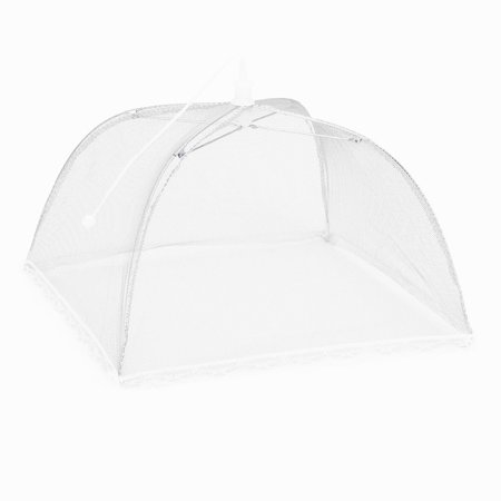 2 Large Pop-Up Mesh Screen Protect Food Cover Tent Dome Net Umbrella Picnic ()