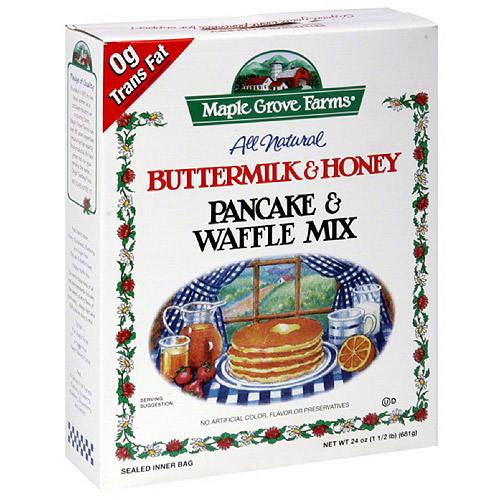 Maple Grove Farms Buttermilk & Honey Pancake & Waffle Mix, 24 oz, (Pack of 6)