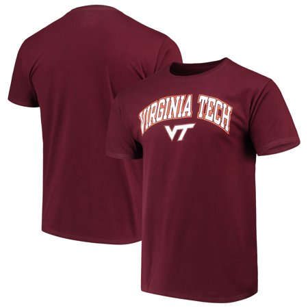 Men's Russell Maroon Virginia Tech Hokies Crew Core Print (Rei Tech T-shirt)