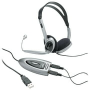 Compucessory, CCS55257, Multimedia USB Stereo Headset, 1, Black,Silver