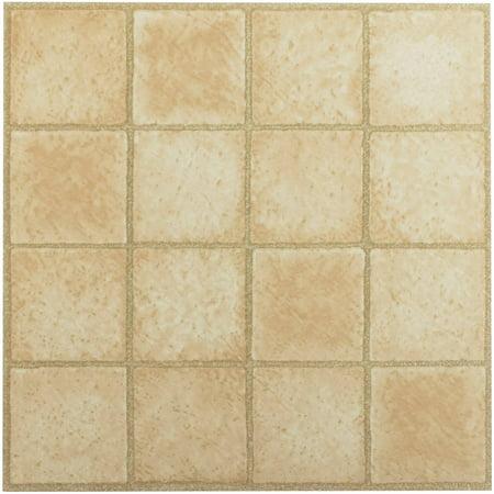 Tivoli 16 square sandstone 12 x 12 self adhesive vinyl for 12x12 vinyl floor tile
