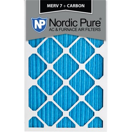 Nordic Pure 6x20x1CustomM7PlusC 6 MERV 7 Plus Carbon AC Furnace Filter