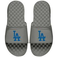 Los Angeles Dodgers ISlide Youth Alternate Logo Slide Sandals - Gray