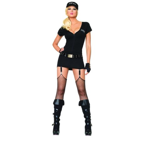 Sexy Swat Commander Costume 3pc Set Size Medium Large