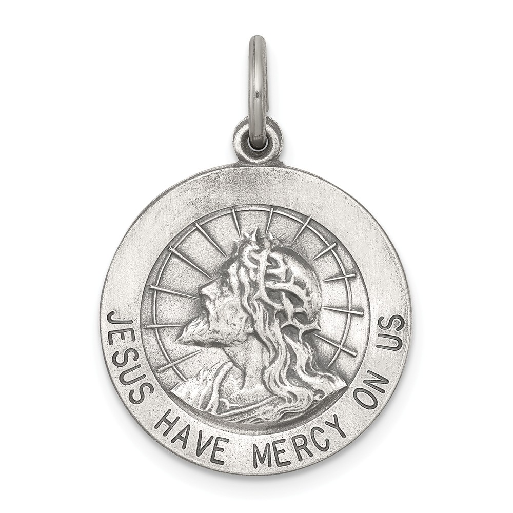 Sterling Silver Engravable Jesus Have Mercy Medal