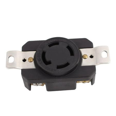 277V/480V 30A 4 US Socket 3 Phase Power Locking Receptacle Generator Outlet