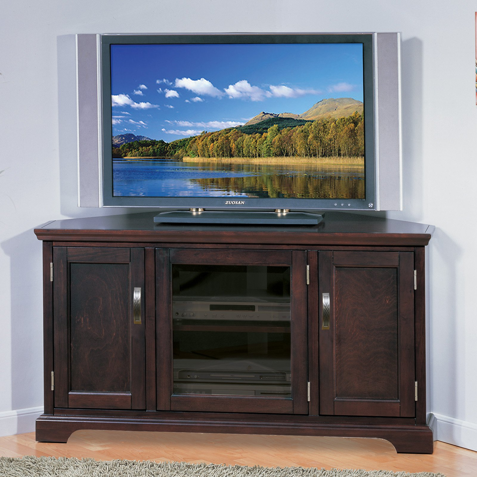 Leick 81385 Riley Holliday Chocolate 46 in Corner TV Console with
