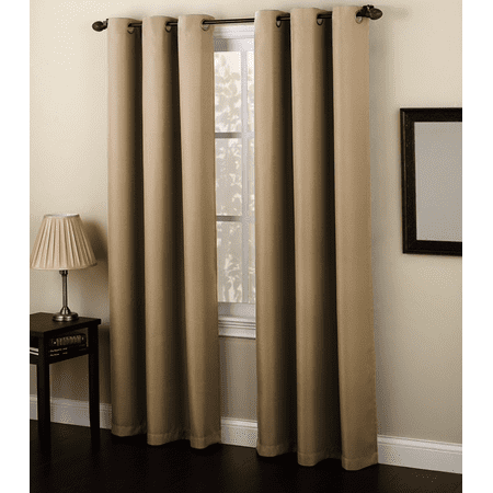 Solid Amy Thermal Blackout Window Curtain with Shiny Back to REFLECT SUNLIGHT! (63