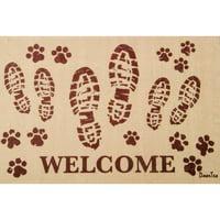 """Doortex® Welcome Boots Design Door Mat - 24"""" x 39"""""""