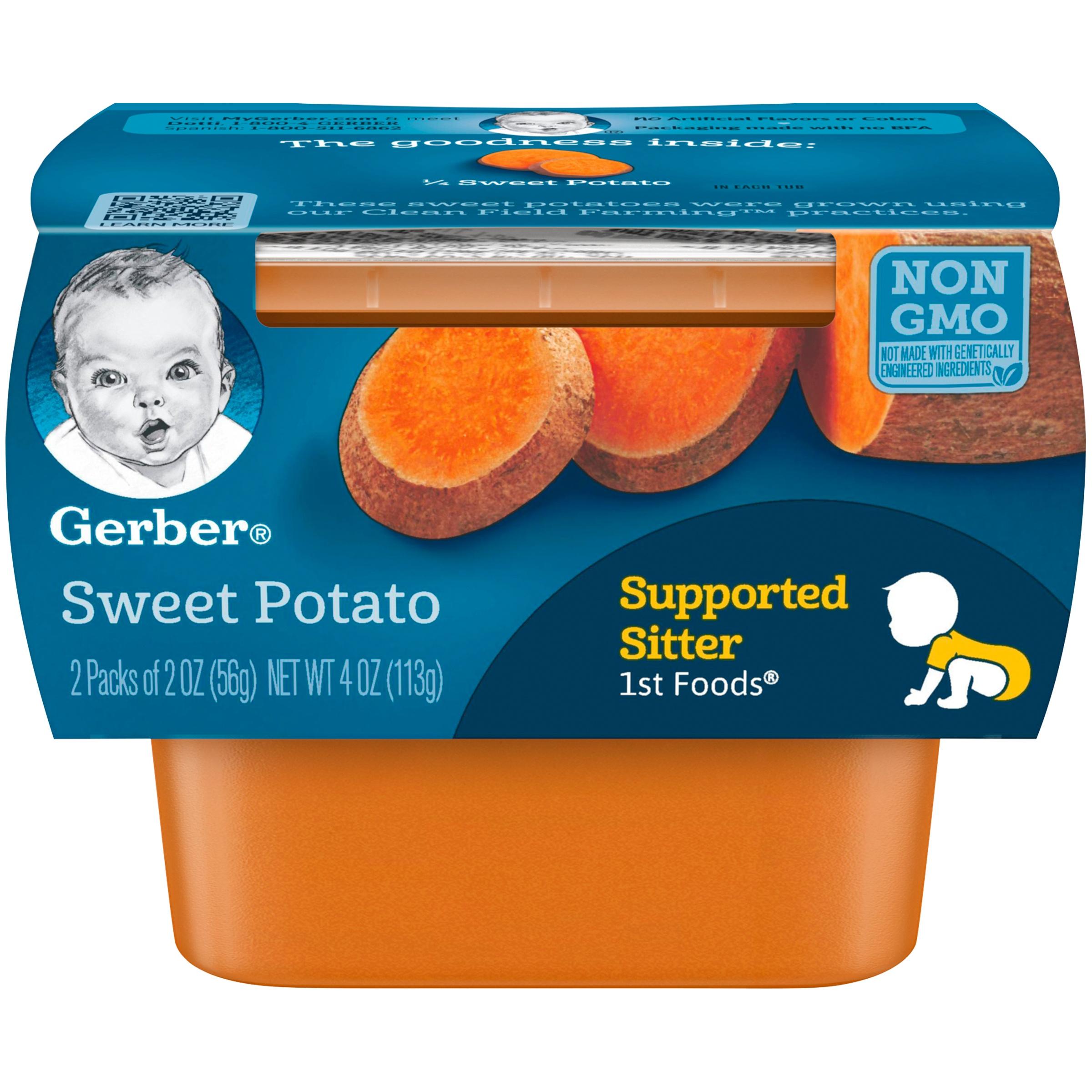 (8 Pack) Gerber 1st Foods Sweet Potato Baby Food, 4 oz. Sleeve