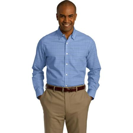 Men RH70 Oxford Shirt Windowpane Plaid Non-Iron - Mens Windowpane Plaid Shirts